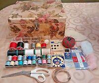 Vintage Sewing Basket  + Notions
