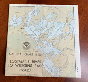 Nautical Chart 11430 Lostmans River To Wiggins Pass Florida