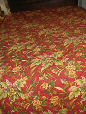 "Waverly Red Floral 86"" x 86"" Bed Comforter & Two Pillow Shams"