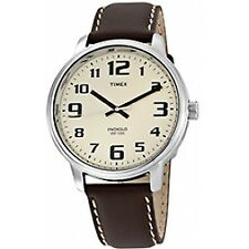 Timex T28201 Indiglo Easy Reader Watch Light Brown