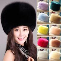 Winter Women Faux Fox Fur Hat Russian Style Winter Hat Head Wear Ski Cap Fashion