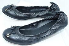 New Gucci Womens Shoes Black Flats Size G 36 Ballet Eiffel Nappa Charlotte