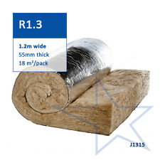 R1.3 Knauf Earthwool® Roofing Blanket Roll with Foil Facing - 55mm Thick