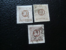 SUEDE - timbre yvert et tellier n° 36 x3 obl (A27) stamp sweden
