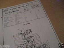 FIAT 850 super-normale, Solex PIL sfavillante 30 - 4 CARBURATORE piano