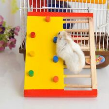 Pet Rat Hamsters Ladder Toys Natural Wooden Jumping Scaling Climbing Play Toy