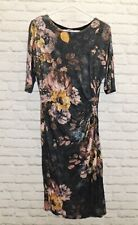 PHASE EIGHT- Multi Colour Jersey Dress- Size 10 - Flattering - Thames Hospice