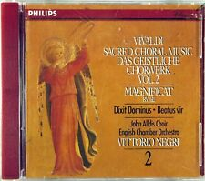 PHILIPS CD 1987 FULL SILVER Vivaldi NEGRI Sacred Music W. GERMANY 420 649-2