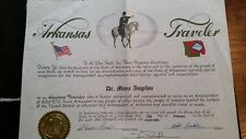 MAYA ANGELOU RECOGNITION AS ARKANSAS TRAVELER SIGNED BY GOVERNOR MIKE HUCKABEE