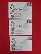 SOUVENIR SET OF 3 ANDA COIN, NOTE & STAMP SHOW COVERS, 3 DAYS POSTMARKS