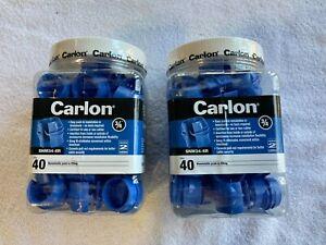 "(2) 40 Packs (80) Carlon SNM34-6R 3/4"" Nonmetallic Push-In Fittings, Blue"