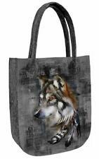 Tasche Shopper Filztasche  City Motiv: Wolf Einkaufstasche