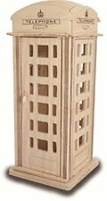 CABINA TELEFONICA Woodcraft Construction Kit-Cabina telefonica in legno 3D KIT Modello Puzzle