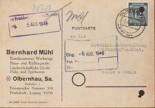 OLBERNHAU, Postkarte 1946, Bernhard Mühl Eisenkurzwaren