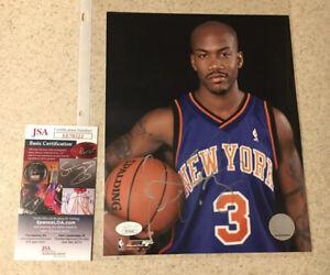 Stephon Marbury Autographed Auto Signed 8x10 Photo Knicks NBA Licensed JSA