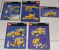 LEGO technic lot de 5 instructions en bon état 8855, 8830, 8840, 8850, 8838