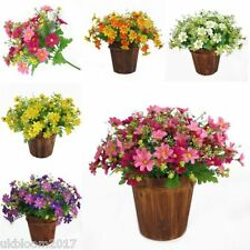28 heads Artificial Chrysanthemum daisy bush bunch hanging basket vase garden