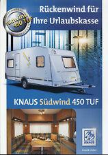 Prospekt Knaus Wohnwagen Knaus Südwind 450 TUF 2004 Broschüre Caravan brochure