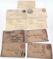 .9 x 1850s 1860s 1880s USA AMERICAN COVERS.
