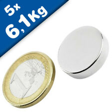5 NEODYM N42 Magnet Quader selbstklebend NdFeB Supermagnete 10x10x1 mm 900 G!