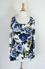 KAREN KANE // XS // NEW $149 Floral Long Sleeve Matte Jersey Cold Shoulder Top