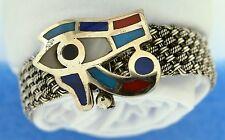 Hall marked Egypt مصر  Ägypten Pharaoh Silver Cuff Bracelet,800,Eye of Horus