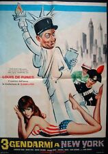 Le GENDARME A NEW YORK Italian 1F movie poster LOUIS DE FUNES 1965 RARE