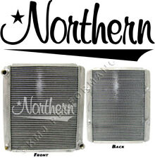 "Northern 209648 Race Pro Stock Car Aluminum Radiator 3/4"" NPT Inlet Outlet 17x19"