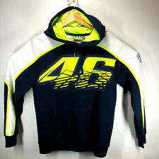 Valentino Rossi VR46 Official Black & Yellow Hoodie Fleece Size Med/Large