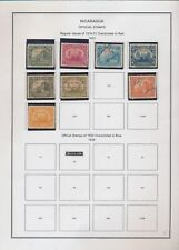 XC21696 Nicaragua 1933 overprint official stamps fine lot used