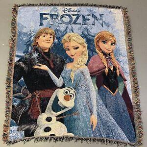 Disney Frozen Knit Tapestry Blanket Movie Graphic Elsa Promo