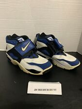 Nike Air Diamond Turf Black Blue White Deion Sanders Shoes Men's Sz 11 Pre-Owned