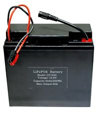 12.8V 20Ah Lithium Phosphate (LiFePO4) Portable Rechargeable Battery - LF1220