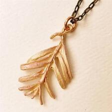 Unique Michael Michaud Silver Seasons Sequoia Leaf Pendant Necklace made in US