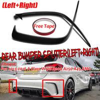 for Mercedes Benz W176 A45 AMG / Sport Glossy Rear Bumper Splitter Canards