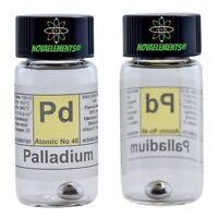 Palladium Metal Element 46 Sample~0.5 Grams 99,99% in Labeled Glass Vial