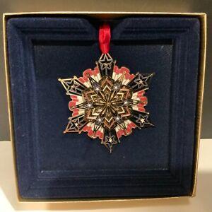 Beacon Design American Snowflake Ornament Patriotic Made in the USA ChemArt
