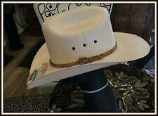 Larry Mahan Hats USA Cattleman Crown Western Cowboy HAT - SIZE 7 1/2 60 CM