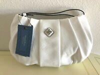 Simply Vera Wang MESSINA WRISTLET Clutch Purse Hand Bag, Natural White $39 RARE