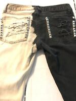 Gap Women's Jean 1969 Always Skinny Destroyed Bleached Studded Size 0 Or 25 X 29