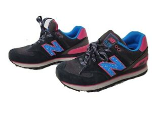 New Balance 574 WL574OIC Running Shoes Womens Size 5.5 Pink Blue Black