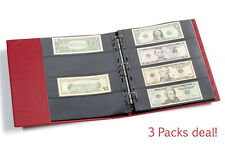 15 Lighthouse Grande 4 Pockets Banknotes Pages Modern Currency 4C Clear 3 Packs