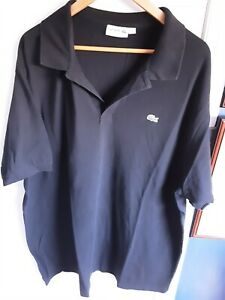 Lacoste Black Polo Shirt 3xlt (27in pit to pit)