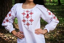 Ukrainian embroidered sorochka, blouse, vyshyvanka, embroidery, Size M