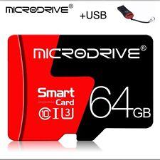 Tarjeta Micro SD 64gb 32bg + Usb Adaptador + SD Adaptor 64 GB