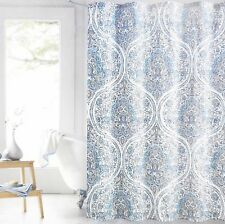 ENVOGUE Moroccan Floral Fabric Shower Curtain WHITE TEAL TAUPE GRAY AQUA SPA NEW