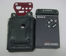 Vintage SONY WM-2 Stereo Walkman Cassette Player & Case Not Working Parts Repair