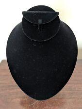 Necklace Earrings And Bracelet Display Black Velvet
