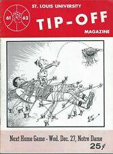 1961-62 ST.LOUIS TIP OFF B-BALL: ST. LOUIS v. OHIO STATE (LUCAS, HAVLICEK) MINT