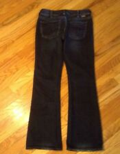 Silver Suki Women's Stretch  Boot Cut Dark Acid Wash Jeans Sz 30/32 EUC